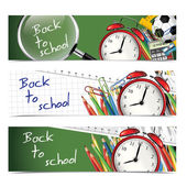 Back to school - vertical banners — Stock Vector