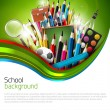 Stock Vector: School background