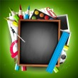 School background — Vector de stock