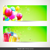 Birthday banners - vector set — Stock Vector