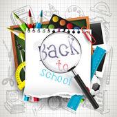 Torna a sfondo scuola — Vettoriale Stock