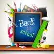 Back to school - vector background — Vektorgrafik