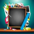 Colorful school background — Imagen vectorial