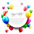 Colorful birthday balloons — Stock Vector