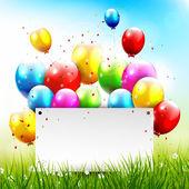 Sfondo di compleanno — Vettoriale Stock
