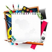 School supplies — Vettoriale Stock