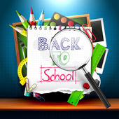 Back to school - background — Stock Vector