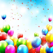 Flying balloons — Stock Vector