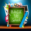 Back to school - creative vector background — Stockvectorbeeld