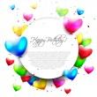 Stock Vector: Colorful birthday background