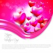 Background with flying hearts — Stock Vector