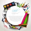 Vector de stock : School supplies