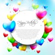Colorful birthday background — Vector de stock #28684561