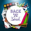 Back to school background — Vector de stock #28684579