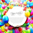 Colorful birthday background — Vector de stock #28684583