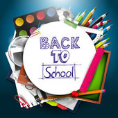 Back to school background — Vetorial Stock