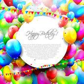 Fondo colorido cumpleaños — Vector de stock