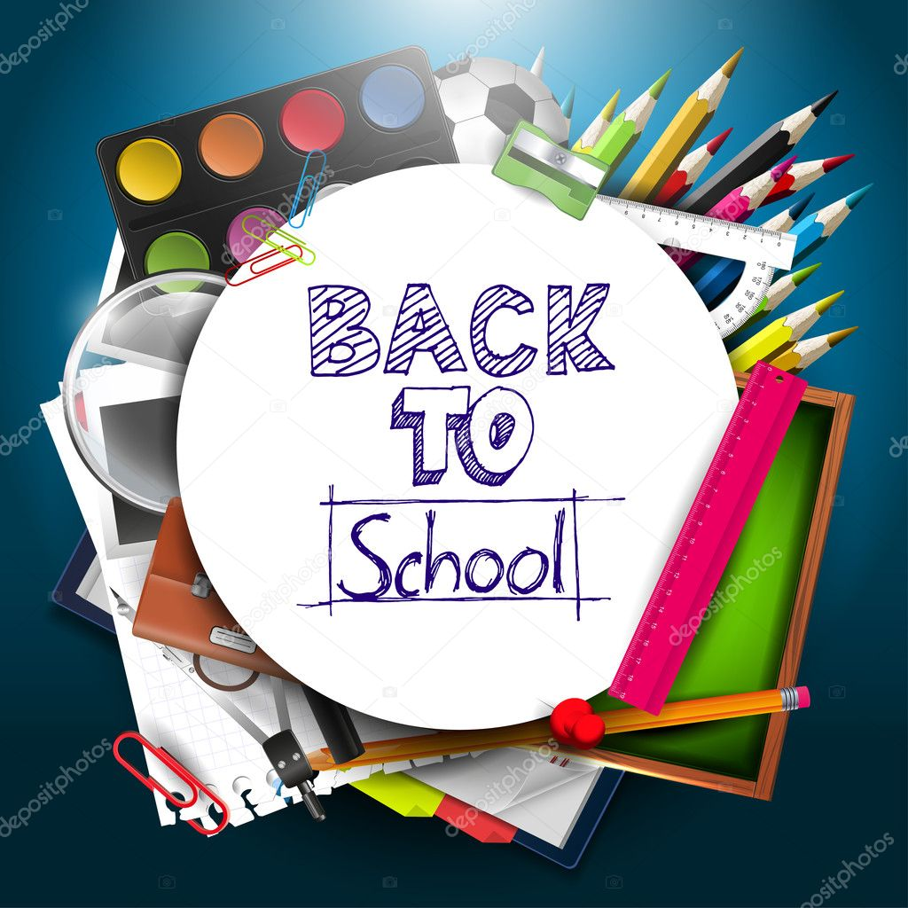 back to school background - photo #26