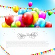 Vettoriale Stock : Colorful birthday background