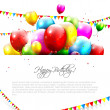 Colorful birthday background — Stok Vektör