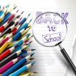 Back to school - creative vector background — Imagen vectorial