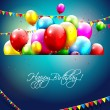 Colorful birthday background — Imagen vectorial