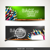 Back to school - vector banners — Vecteur