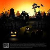 Halloween poster — Stock Vector