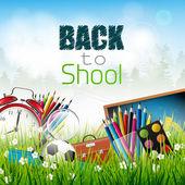 Back to school - vector background — Stock Vector