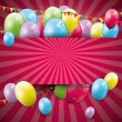 Sweet birthday background — Vector de stock #30607487