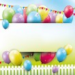 Sweet birthday background — Image vectorielle