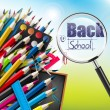 School background — Imagen vectorial