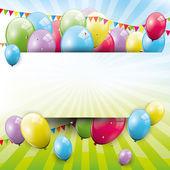 Fond doux anniversaire — Vecteur