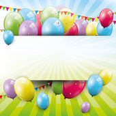 Sweet Birthday background — Vector de stock