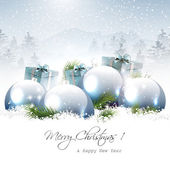 Christmas greeting card — Vecteur