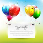 Geburtstag hintergrund — Stockvektor