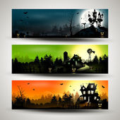 Banderas de halloween — Vector de stock