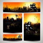 Set of Halloween banners — Stock Vector #32500317