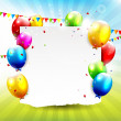 Colourful Birthday background — Vektorgrafik