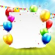 Colourful Birthday background — Stock vektor