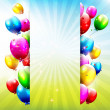 Birthday balloons — Vector de stock #32500255