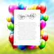 Colourful Birthday background — Stockvektor