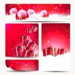 Stock Vector: Set of Christmas banners