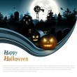 Modern Halloween background — 图库矢量图片
