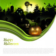 Stock Vector: Modern Halloween background