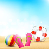 Summer beach background — Stock Vector