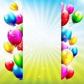 Födelsedag ballonger — Stockvektor