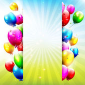 Birthday balloons — Vettoriale Stock