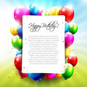 Colourful Birthday background — Cтоковый вектор