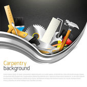 Modern carpentry background — Stock Vector